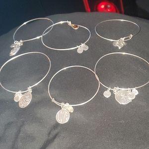 Six silver alex and anni bracelets
